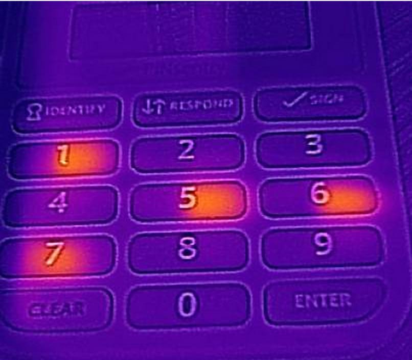 Thermal Imaging Pin Pad at ATM