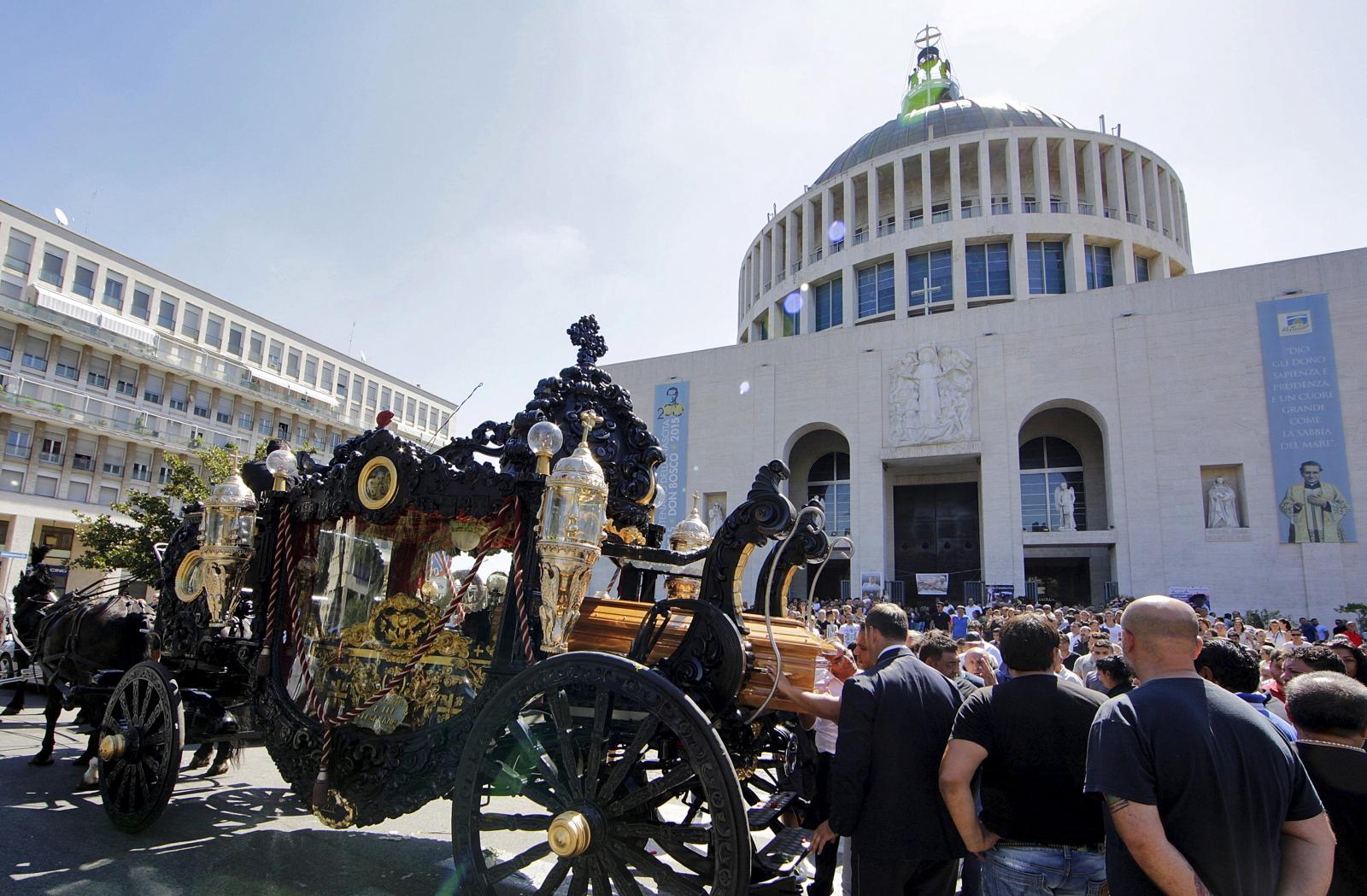 Boss Vittorio Casamonica Funerals Rome