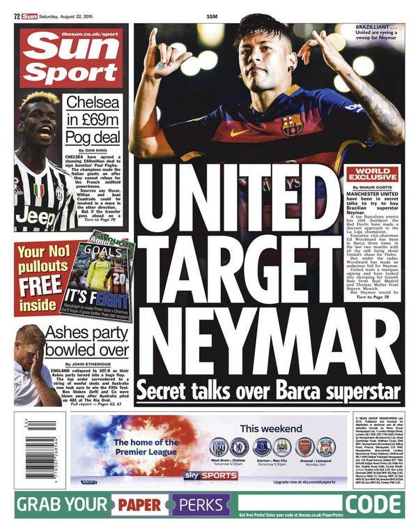 Sun's back page