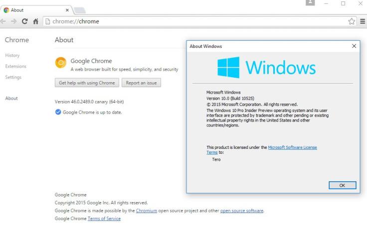 Google fixes Chrome Canary crashing bug in Windows 10 build