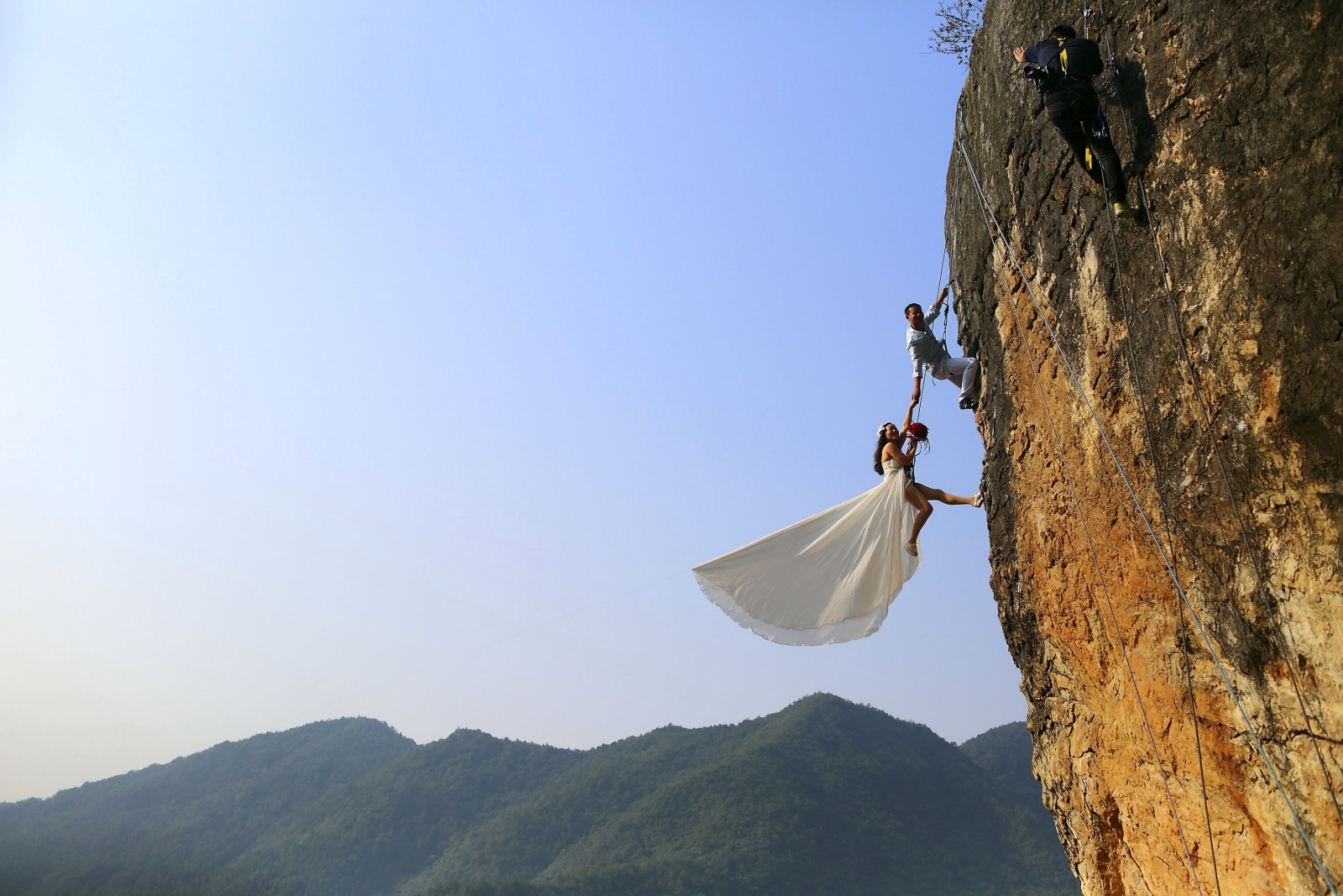 cliff wedding