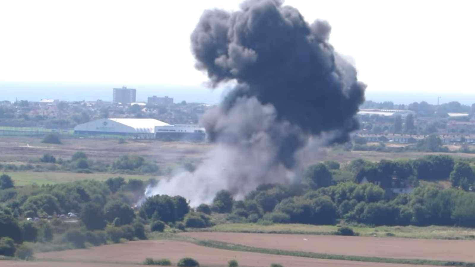 Plane crashes near the Shoreham airshow