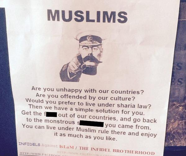 Anti-Muslim poster