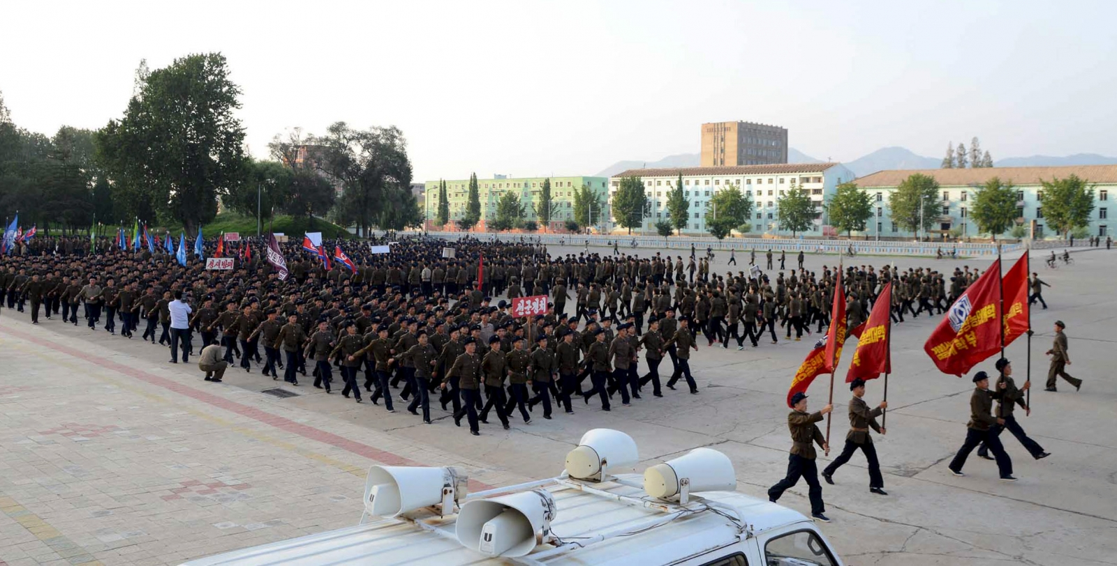 North Korea has started holding evacuation drills as tension with United States  continue