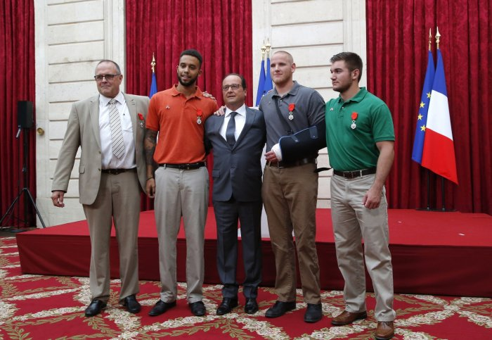 Thalys train heroes decorated