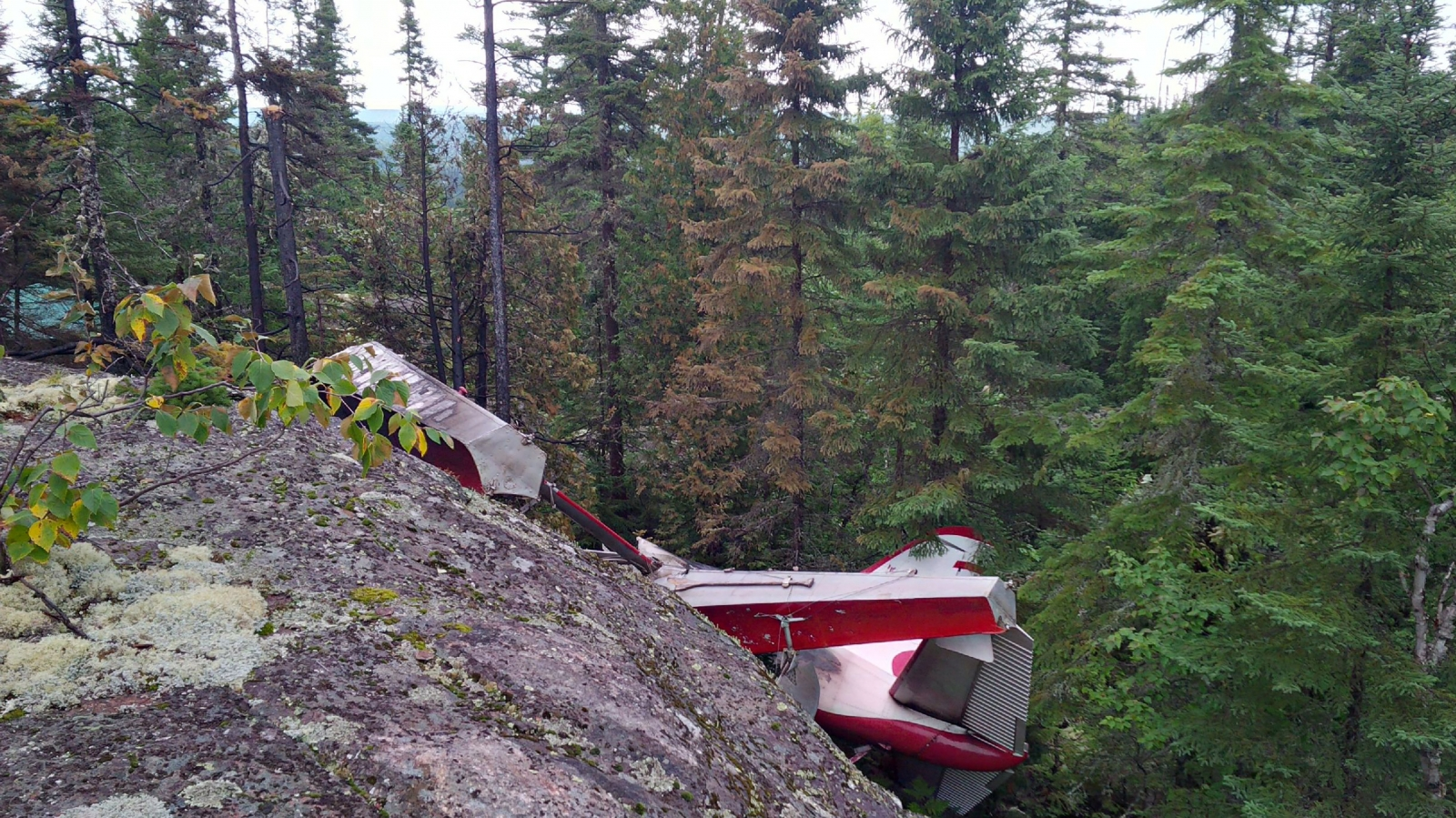 Beaver plane crash site