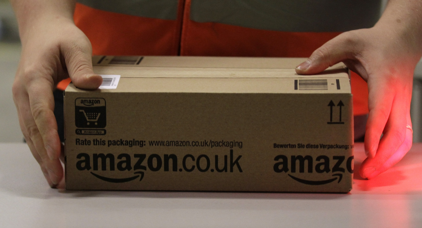 A package sent out from Amazon UK