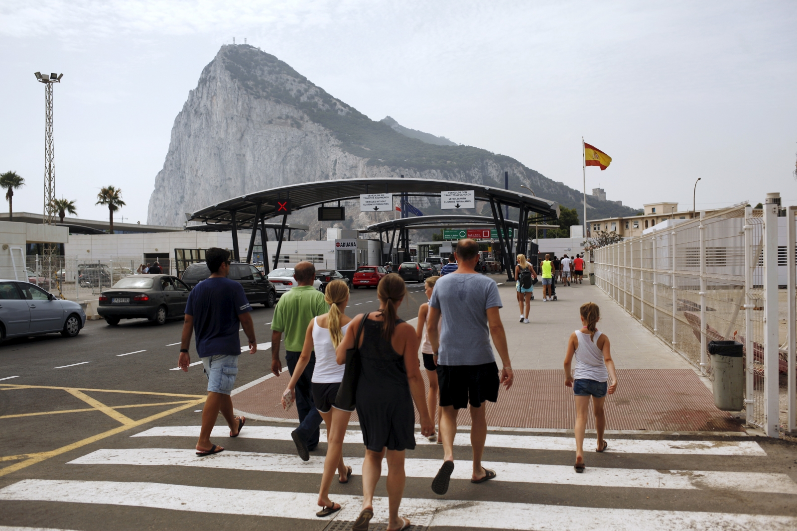 Gibraltar border Spain