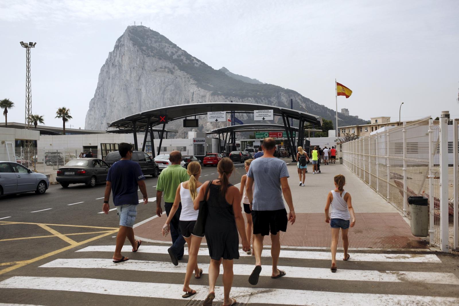 Gibraltar border Spain
