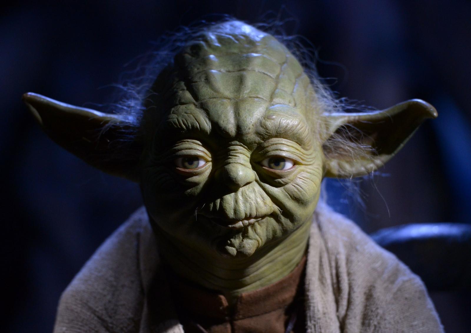 Model of Star Wars character Yoda