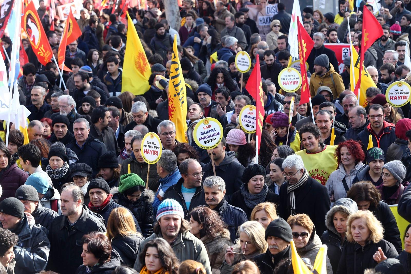 Education protests Ankara