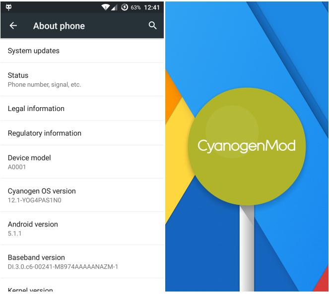 Cyanogen OS 12.1 ROM