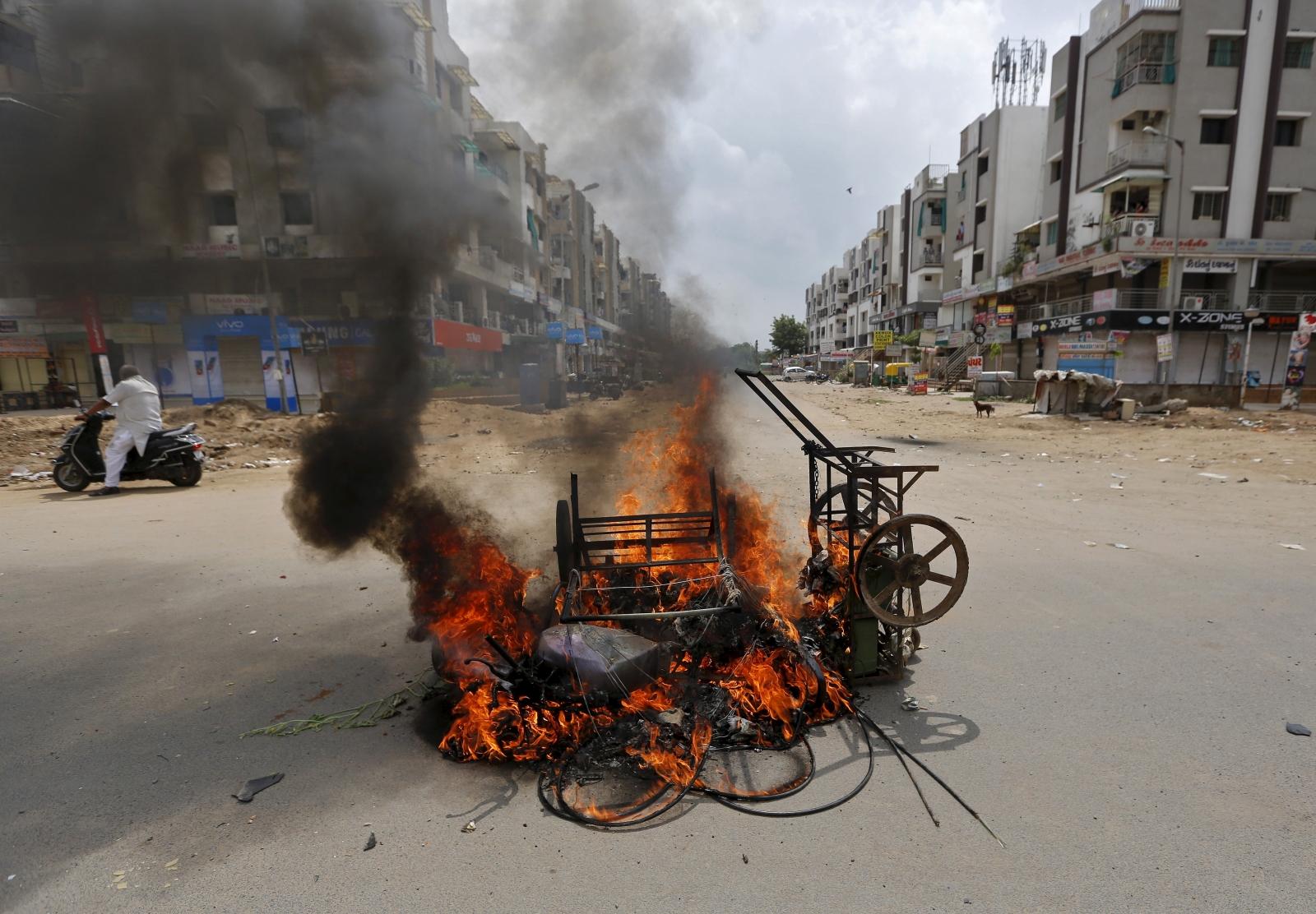 India Gujarat unrest
