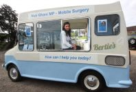 Nus Ghani in her ice cream van