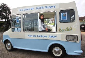 Nus Ghani in her ice cream van