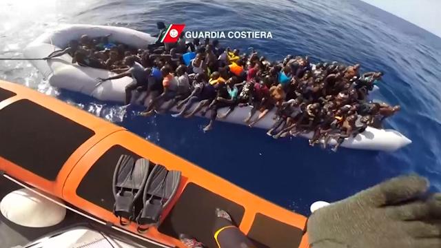 Migrant dinghy