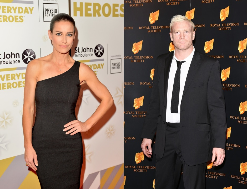 Kirsty Gallacher and Iwan Thomas