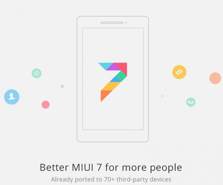 MIUI 7 ports available for 69 non-Xiaomi devices