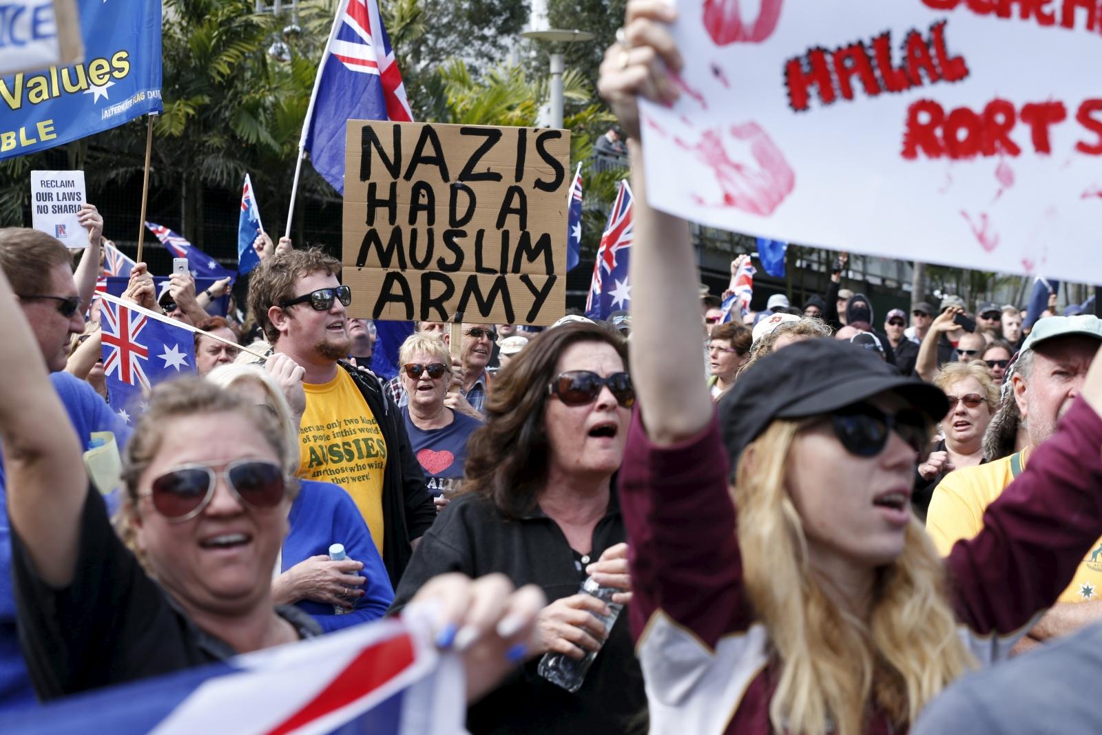 Anti-Islam protest Australia