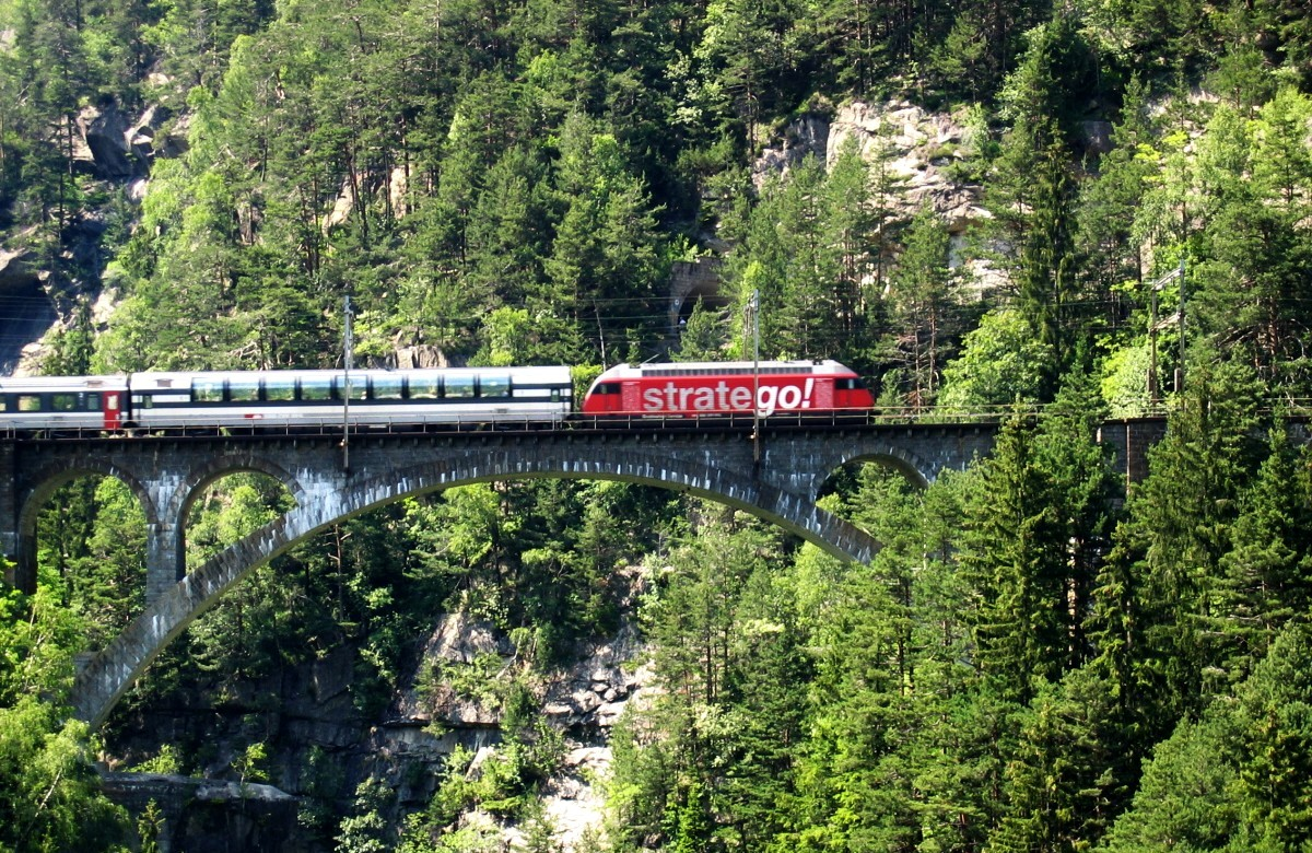 Swiss train bridge