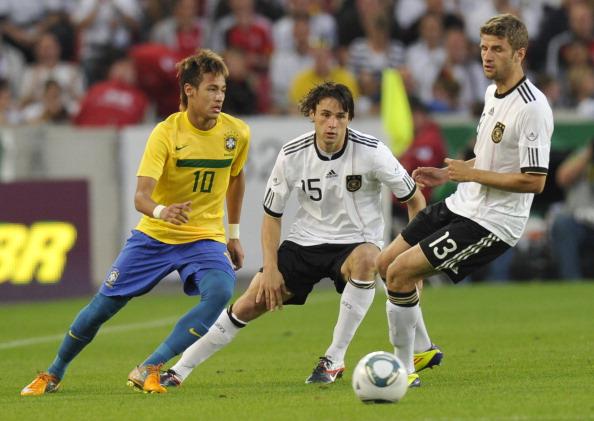 Thomas Muller and Neymar