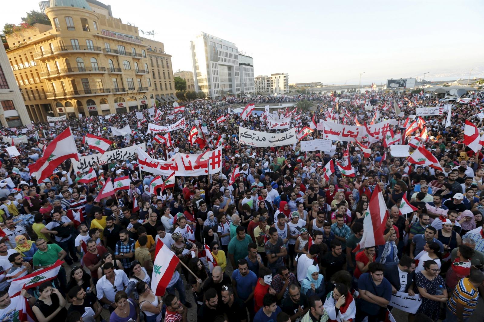Lebanon You Stink protests