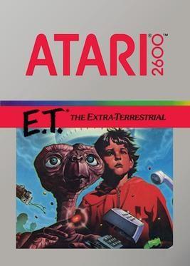 ET Atari videogame cover