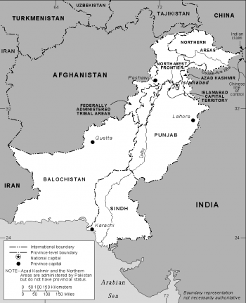 Pakistan regions map