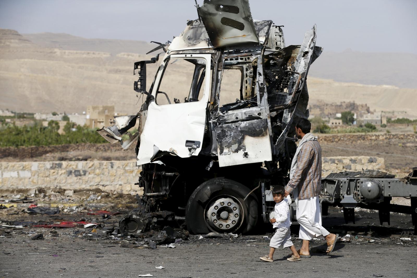 Yemen Saudi Arabia Airstrikes