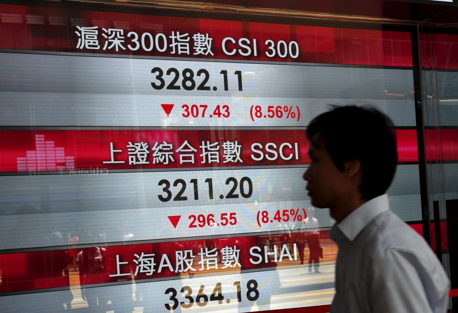 Hong Kong stock display