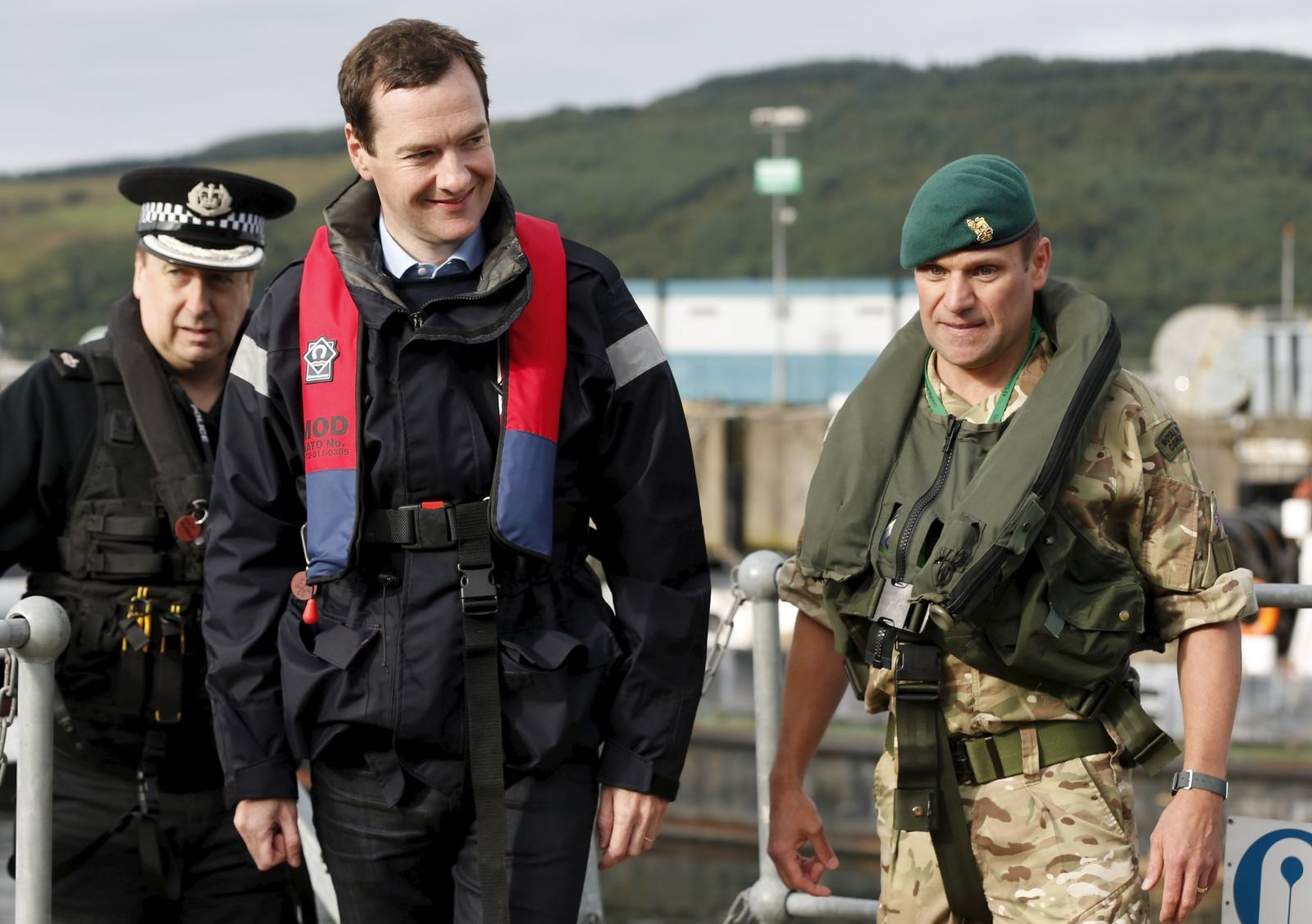 George Osborne at Faslane