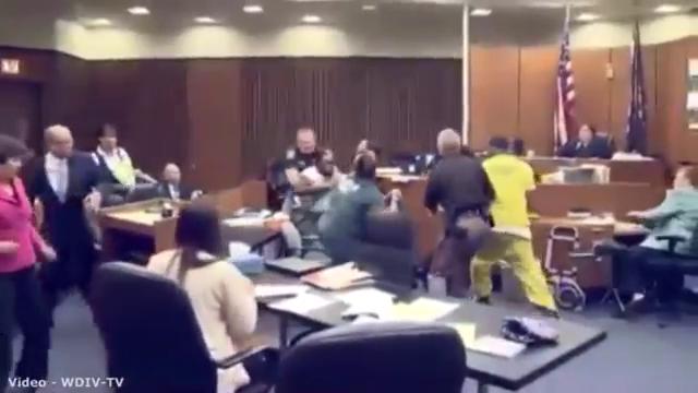 courtroom brawl