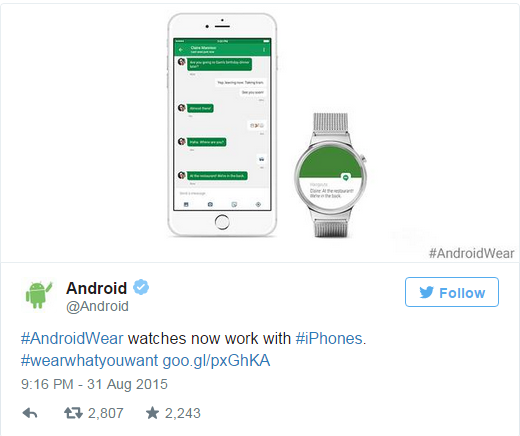 Android Wear for iPhones