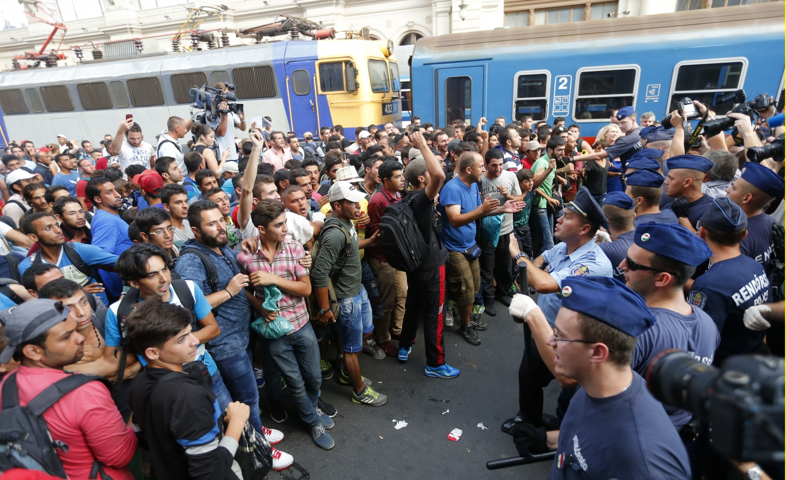 Budapest migrants train station