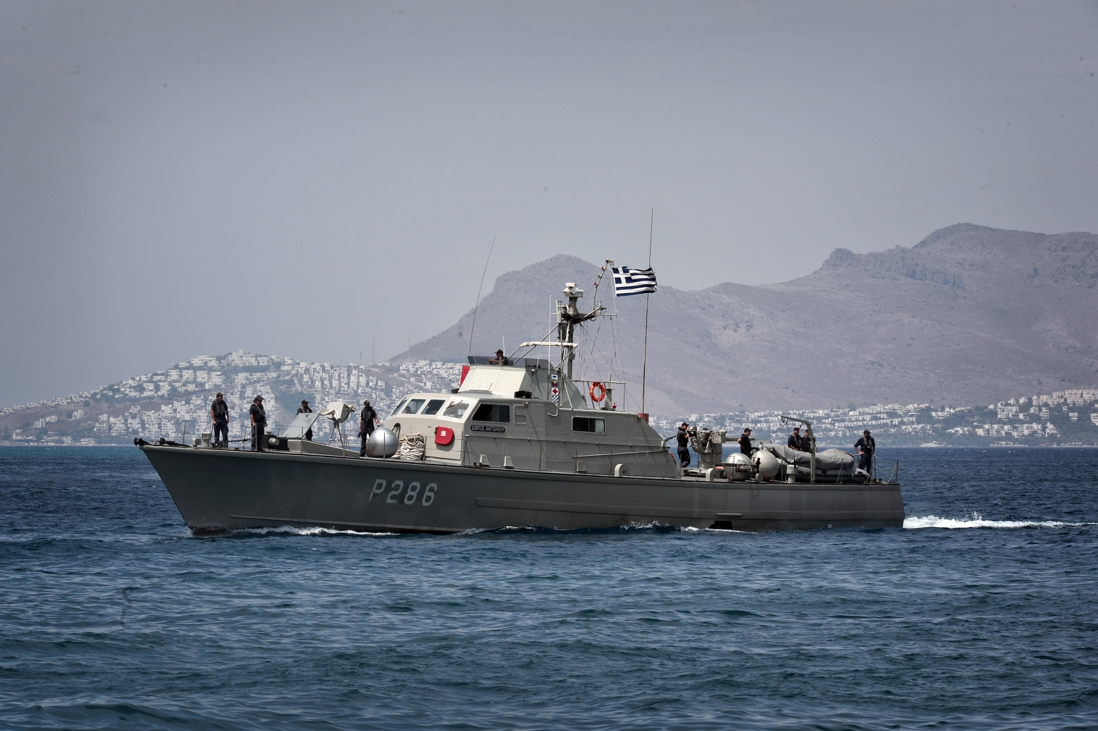 Greek coast guard weapons cargo