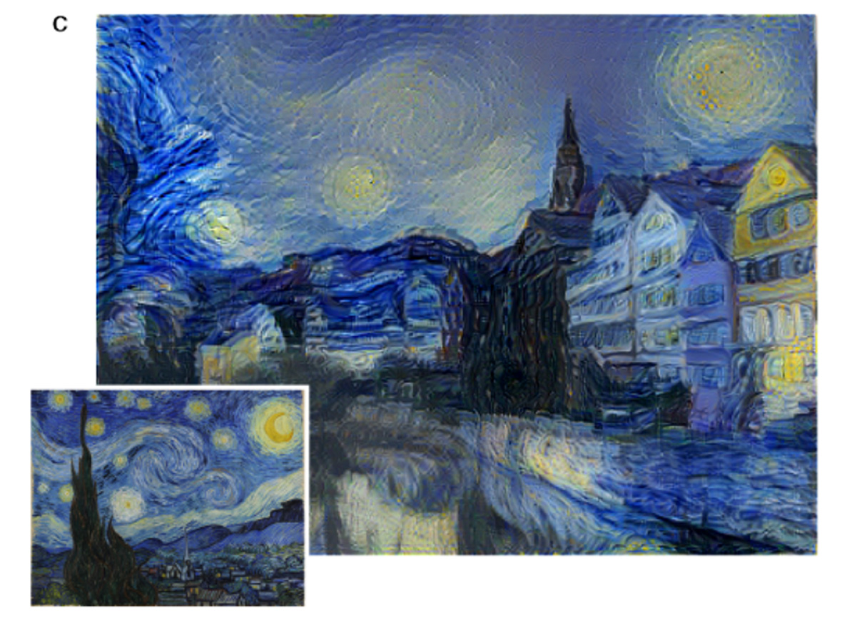 Paint like Van Gogh: deep learning algorithm