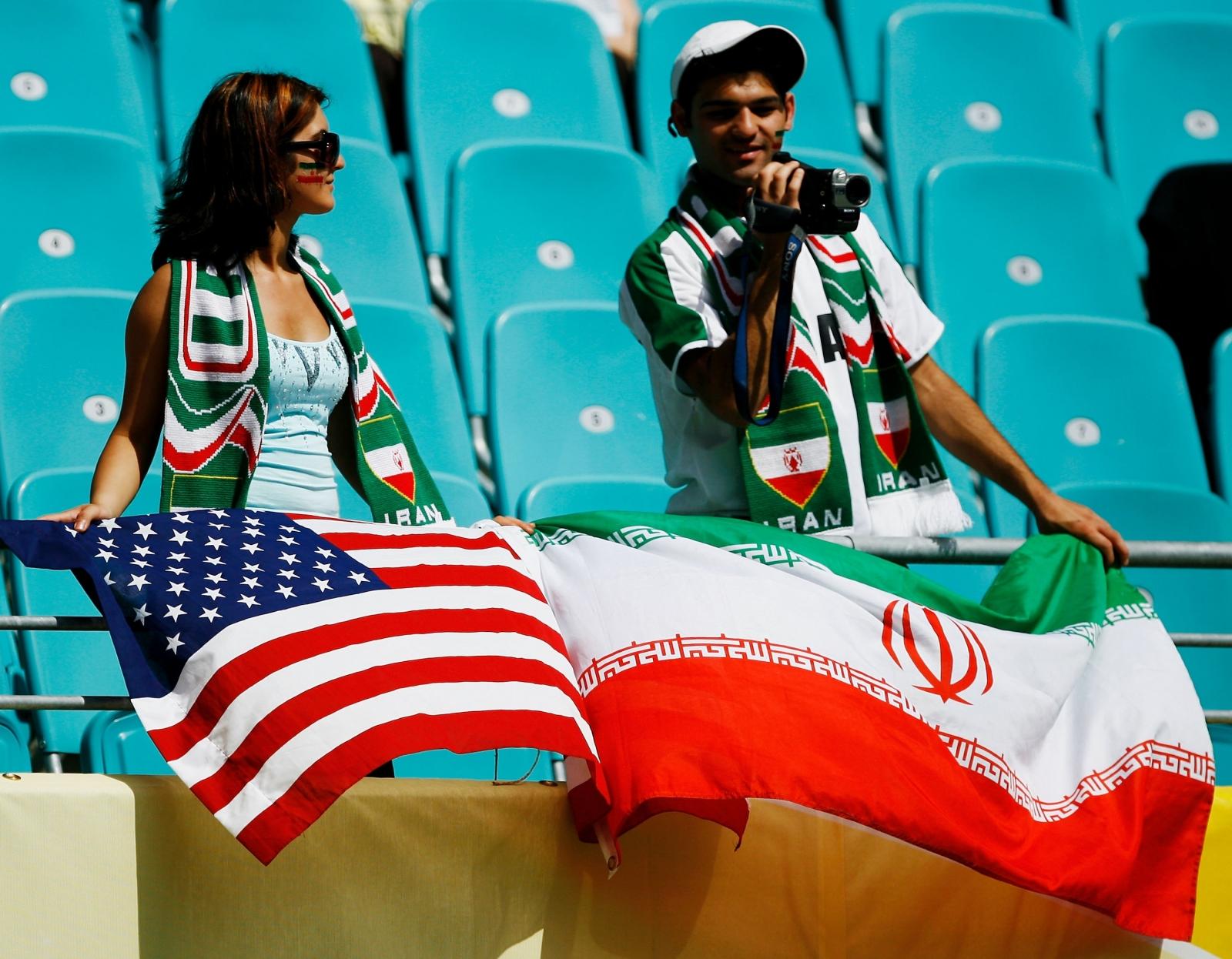 Iran US flag