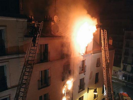 Paris XVIII fire