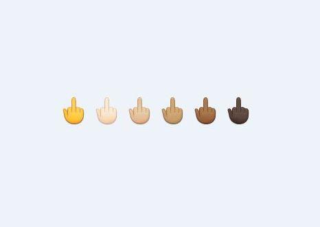 Middle-finger emoji