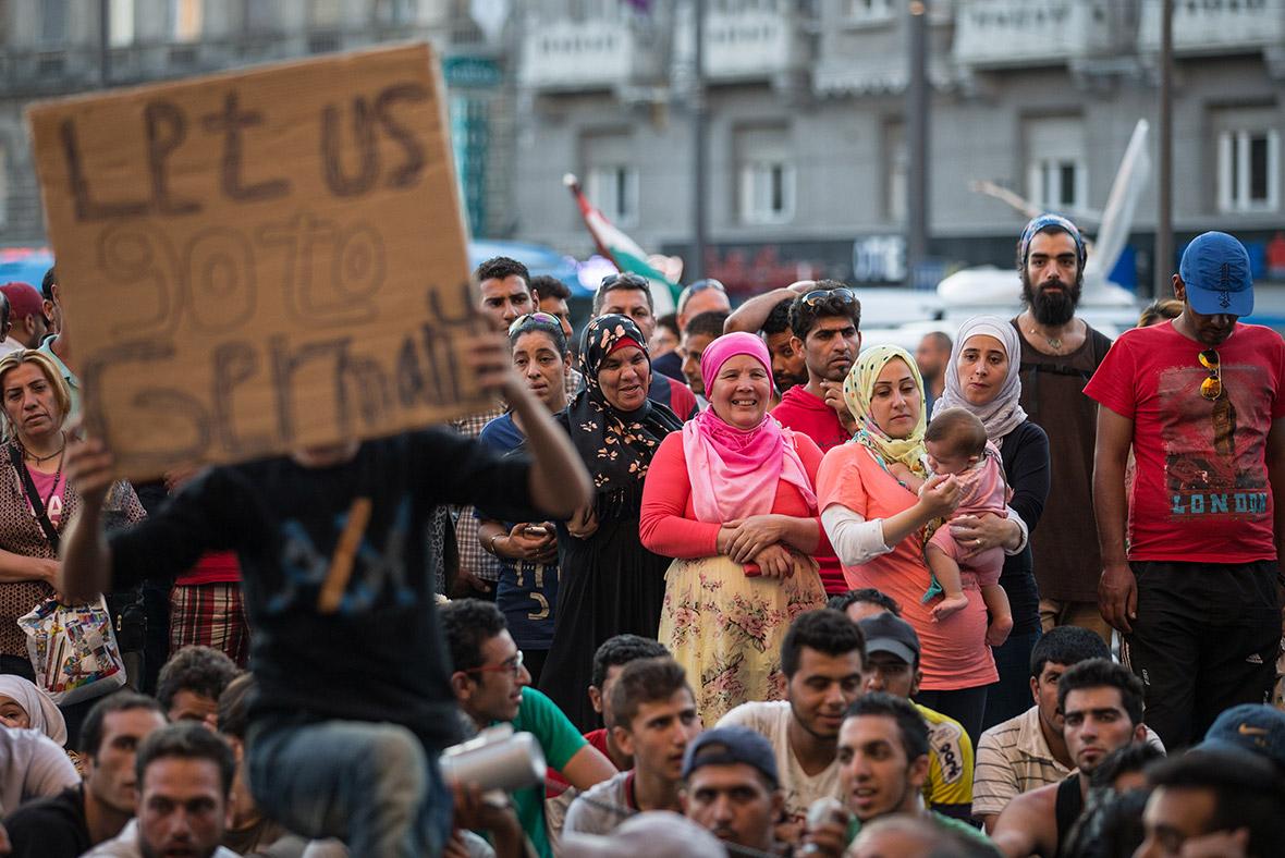 Migrants Budapest Hungary train station
