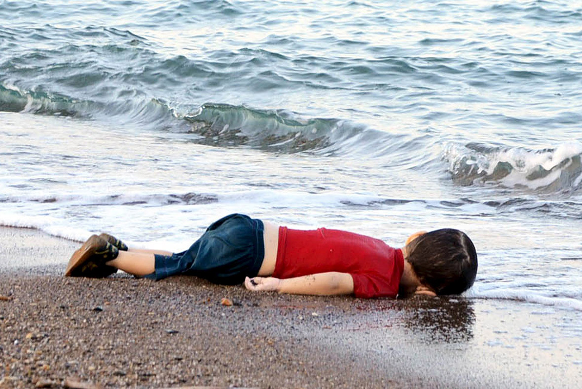Migrant child dead beach Turkey