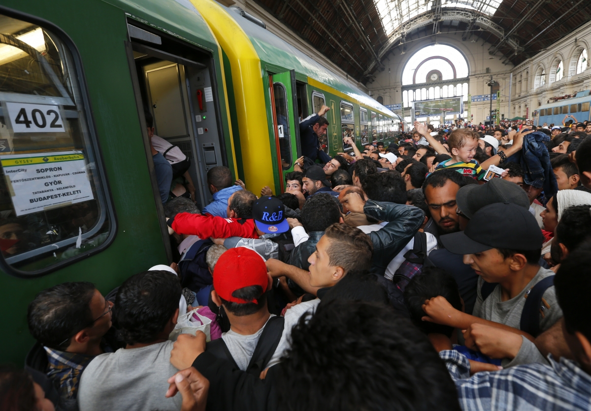 Budapest Keleti train station Hungary migrants