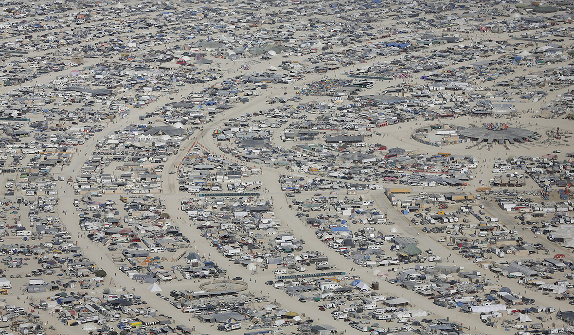 Burning Man 2015 aerial photo