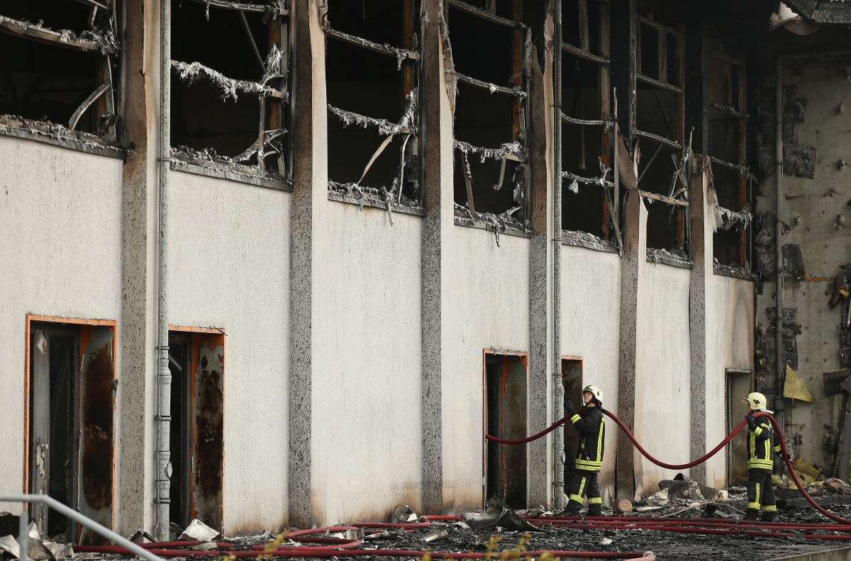 asylum centre fire Germany