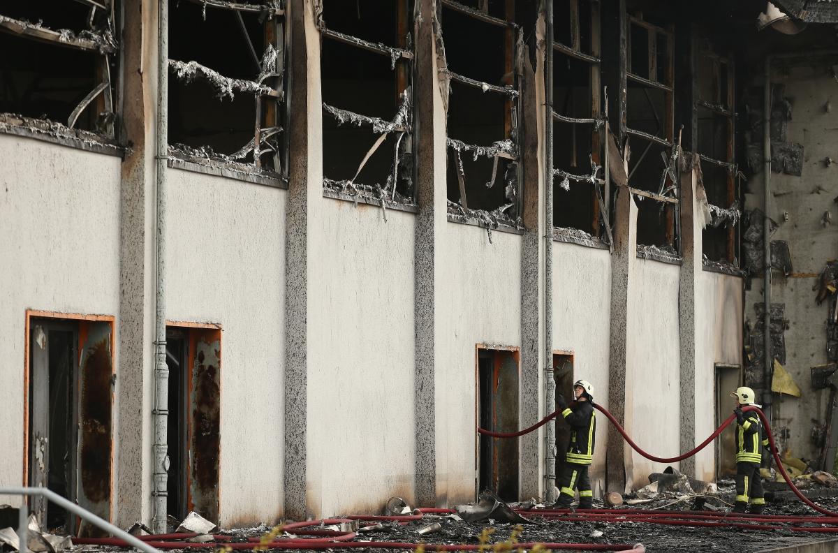 asylum centre fire Germany