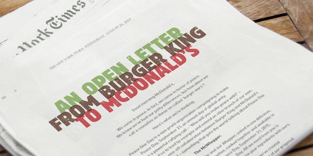 Burger King NYTimes ad