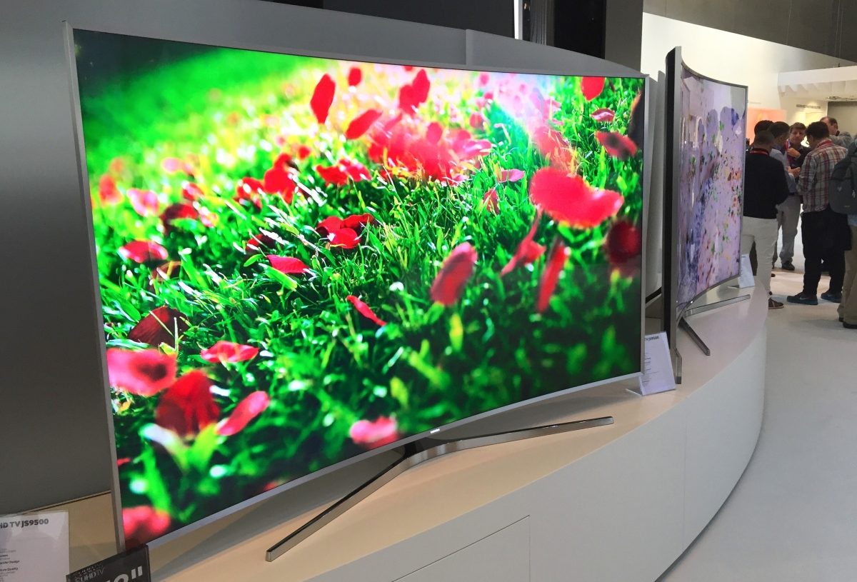 Samsung curved UHD televisions at IFA 2015
