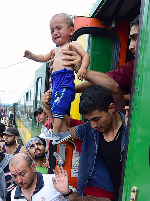 Migrants Hungary train Germany Austria