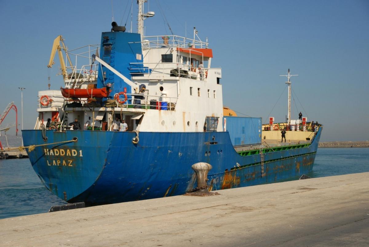 Greece: Seized cargo ship Haddad 1 concealed 5,000 shotguns