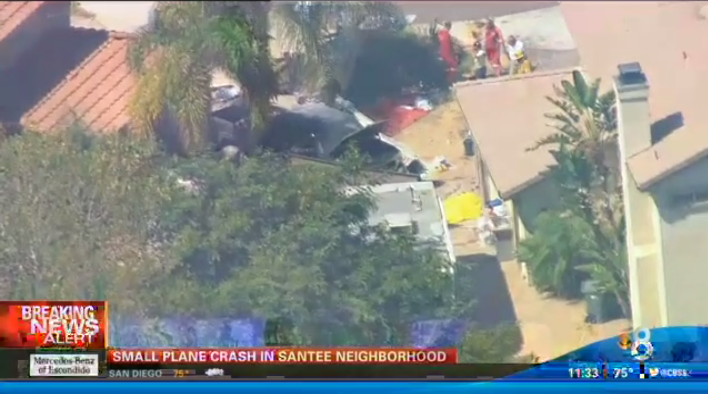 California: 2 dead after small plane crashes into San Diego